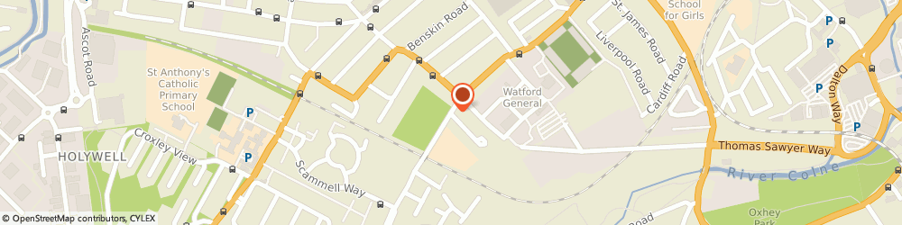 Route/map/directions to Watford Football Club, WD18 0ER Watford, Vicarage Road