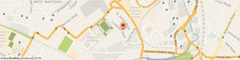 Route/map/directions to Reginald A Lambert, WD18 0DN Watford, 80 Liverpool Rd