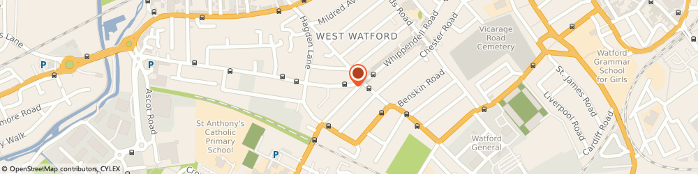 Route/map/directions to SportsZEB Ltd, WD18 7PA Watford, 301 Whippendell Rd