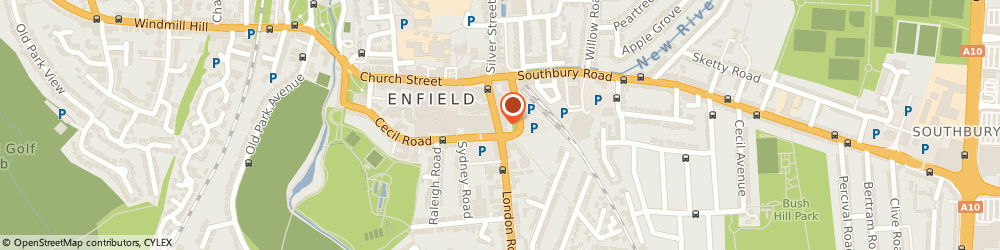 Route/map/directions to Hammond Opticians, EN2 6EF Enfield, 40 London Road