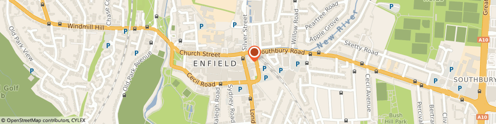 Route/map/directions to Charlie Ltd, EN2 6EB Enfield, 10 London Road