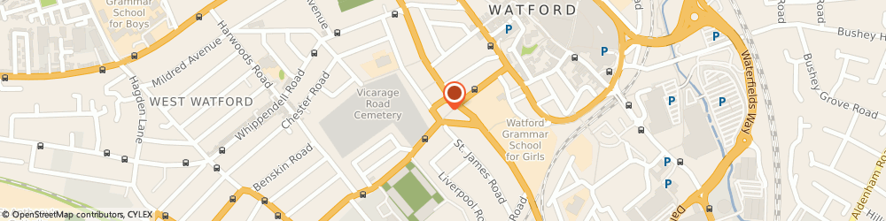 Route/map/directions to M.A Furneaux, WD18 0EJ Watford, 79 Vicarage Rd