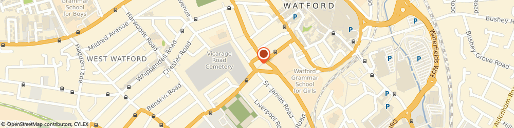 Route/map/directions to Fullbore Motorcycles, WD18 0EJ Watford, 81 VICARAGE ROAD