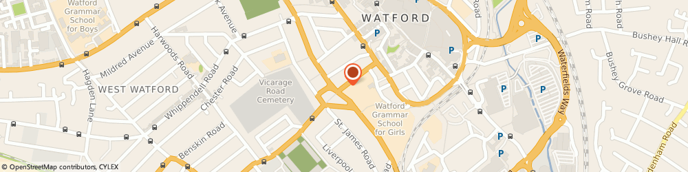 Route/map/directions to Oasis Cash & Carry, WD18 0EJ Watford, 65, VICARAGE ROAD