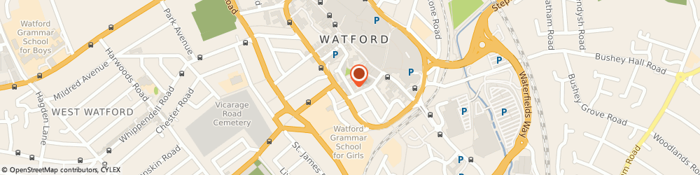 Route/map/directions to Penman Sedgwick LLP, WD18 0SQ Watford, 5 George Street
