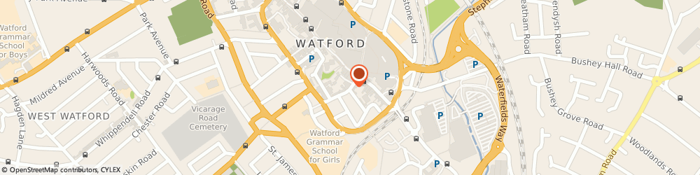 Route/map/directions to Accident Advice Helpline, WD18 0BW Watford, Royalty House, 10 King Street