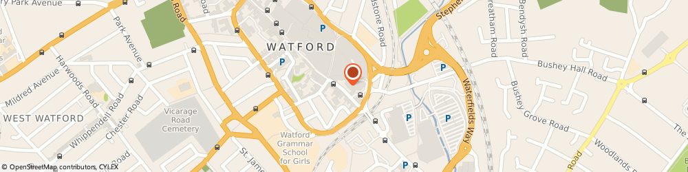 Route/map/directions to The End, WD17 2ER Watford, 129-131 High St