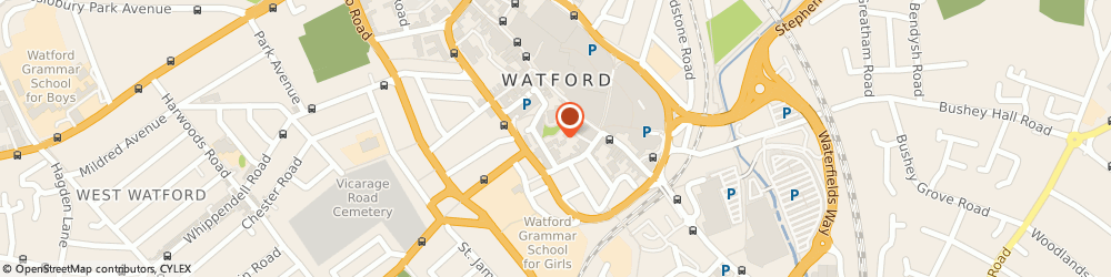 Route/map/directions to Flycast Media, WD18 0BX Watford, The Old Free School, George Street