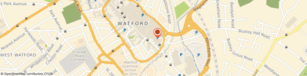 Route/map/directions to Zara, WD17 2TB Watford, 201, The Harlequin
