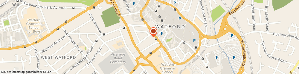 Route/map/directions to Scte Limited, WD18 0PN Watford, COMMUNICATIONS HOUSE, 41A MARKET STREET
