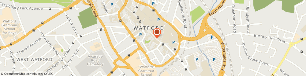 Route/map/directions to Champtronix, WD17 2DQ Watford, High St, 103-105 The Mews House