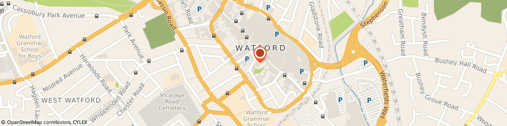 Route/map/directions to Travis Perkins, WD18 9TL Watford, Church Road