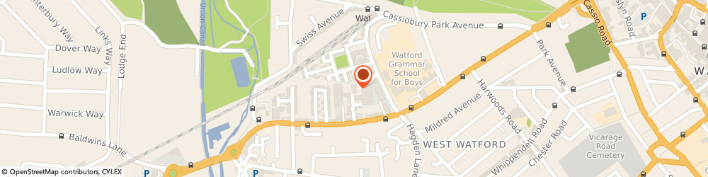 Route/map/directions to Maserati Wedding Hire, WD18 7GE Watford, 9 Knightsbridge Court, Observer Drive