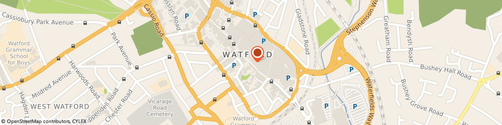 Route/map/directions to M&S Marks and Spencer - Watford, WD17 2DH Watford, 91 High Street