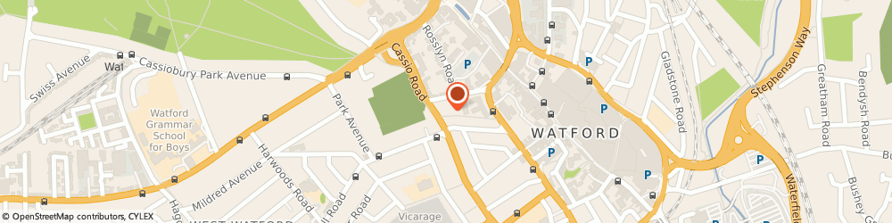 Route/map/directions to Enterprise Rent-A-Car - Watford, WD18 0QG Watford, 80 Cassio Road