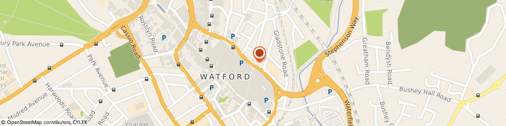 Route/map/directions to Zara, WD17 2UB Watford, Queen's Road