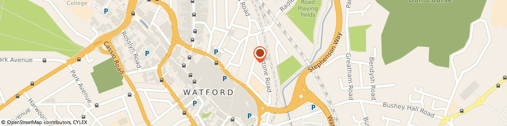 Route/map/directions to Three Legged Stool, WD17 2QT Watford, 14, Grosvenor Road