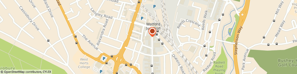 Route/map/directions to Moore Solicitors, WD17 1DS Watford, 69-71 Clarendon Rd