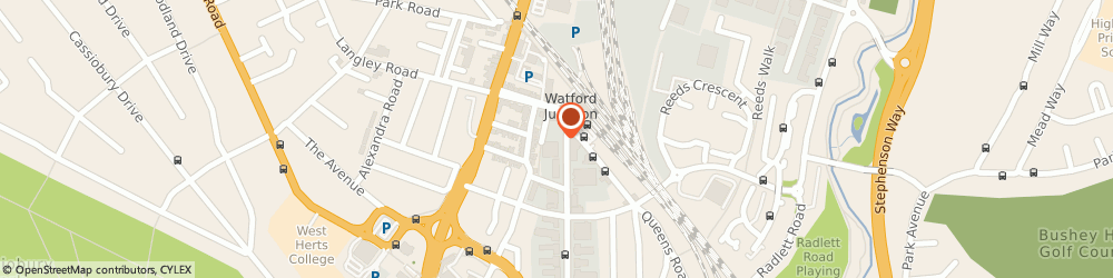 Route/map/directions to Vehicle Accident Managers, WD17 1DS Watford, MERIDIEN HOUSE, GROUND FLOOR, 69-71 CLARENDON ROAD