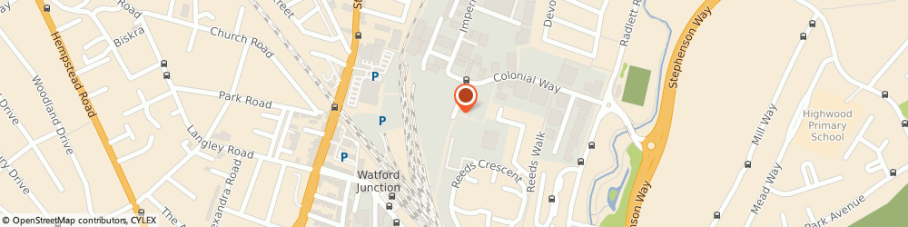 Route/map/directions to Collins & Co Removals, WD24 4PX Watford, 5 Clive Way