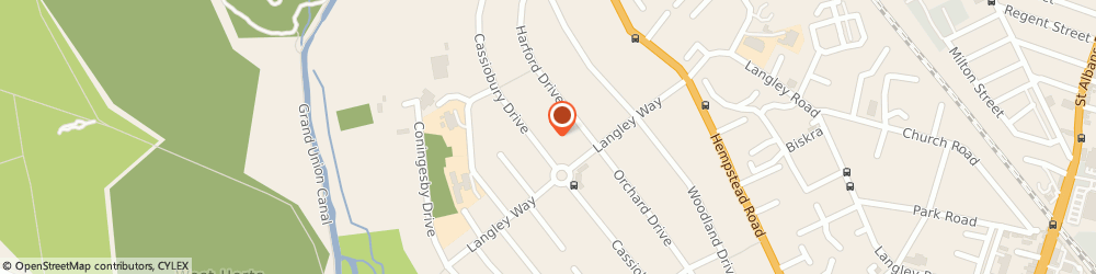 Route/map/directions to Park Veterinary Centre, WD17 3PA Watford, 256 Cassiobury Drive