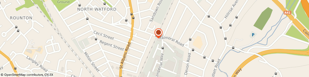 Route/map/directions to D&B Auto Services, WD24 4EP Watford, 56 Balmoral Rd