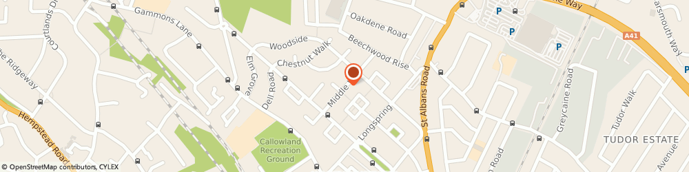 Route/map/directions to Bell Driving School, WD24 6HL Watford, 34, MIDDLE WAY