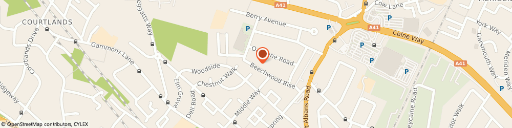 Route/map/directions to Driving Tuition Learner, WD24 6SG Watford, 70 Beechwood Rise