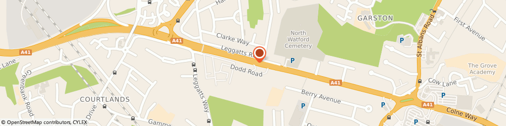 Route/map/directions to North Watford Cemetery, WD25 0AW Watford, North Western Avenue