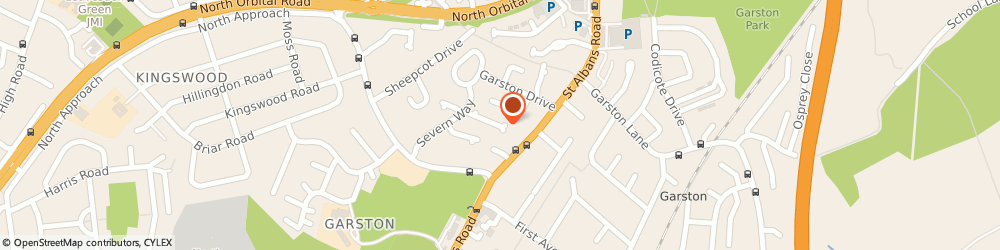 Route/map/directions to C Day & Son Ltd, WD25 0DW Watford, 25 Rother Close
