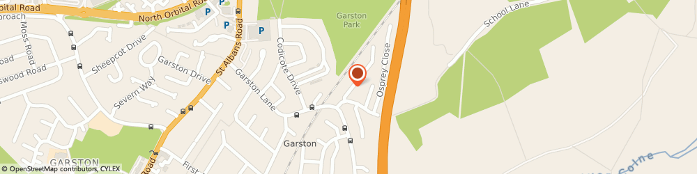 Route/map/directions to Alan Bush, WD25 9AP Watford, 15 Peregrine Close