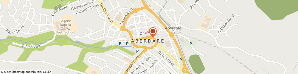 Route/map/directions to BANK OF SCOTLAND ATM - Aberdare, CF44 7AP Aberdare, 14 Canon Street