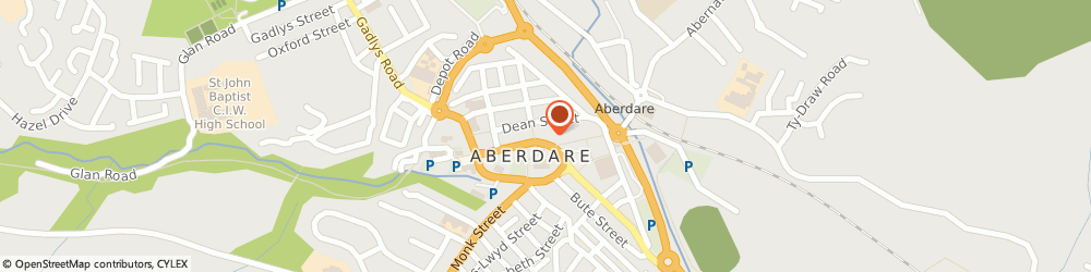 Route/map/directions to BANK OF SCOTLAND ATM - Aberdare, CF44 7AR Aberdare, 12 Canon Street