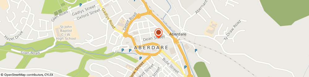 Route/map/directions to Vaughan Jones Veterinary Practice, CF44 7BN Aberdare, 17-18 Dean St
