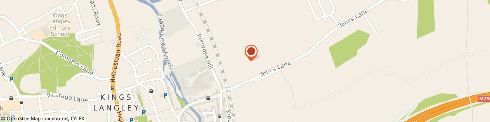Route/map/directions to Vauxalot Ltd, WD4 8NA Kings Langley, 15a, Toms Lane, Harlow Barn