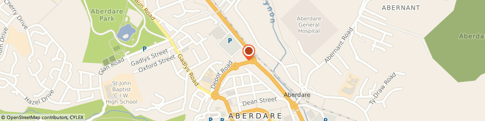 Route/map/directions to McDonald's - Aberdare, CF44 8DL Aberdare, Depot Road