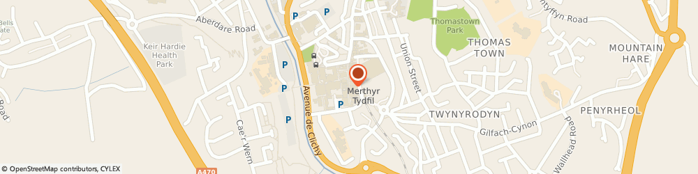 Route/map/directions to Barclays Bank, CF47 8DL Merthyr Tydfil, 47 High Street