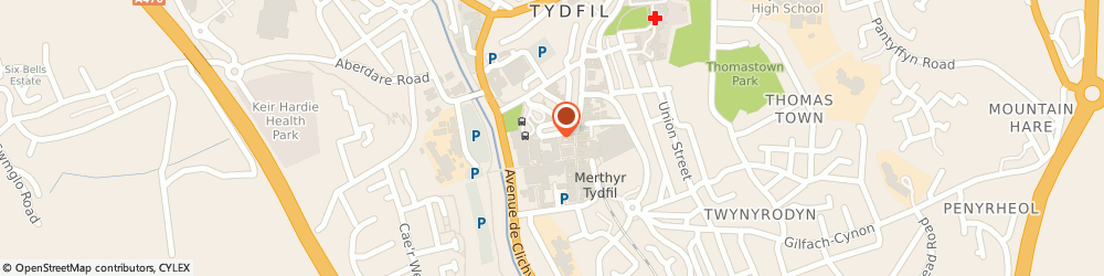 Route/map/directions to The Travel House, CF47 8ED Merthyr Tydfil, 8 Victoria Street
