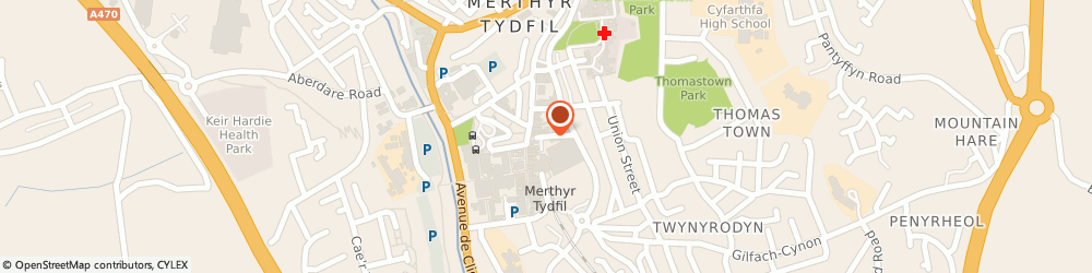 Route/map/directions to Post Office Limited, CF47 0AB Merthyr Tydfil, 3 John Street