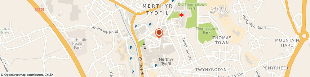 Route/map/directions to The Gwyn George Partnership Solicitors, CF47 8AU Merthyr Tydfil, 6 Glebeland Street
