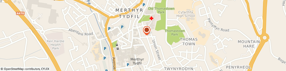 Route/map/directions to Physiotherapy Wales Ltd Merthyr Tydfil, CF47 0BA Merthyr Tydfil, THE GROUND FLOOR, SECURITY HOUSE, 4 CHURCH PLACE