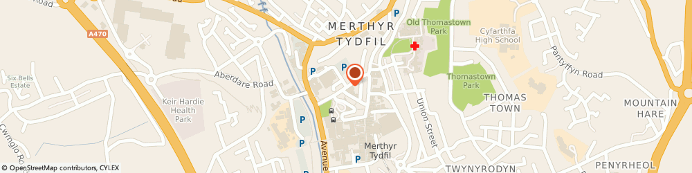 Route/map/directions to Robert Holdaway, CF47 8BB Merthyr Tydfil, Castle Street