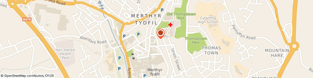 Route/map/directions to Merthyr Tydfil Citizens Advice Bureau, CF47 8BE Merthyr Tydfil, Post Office Lane