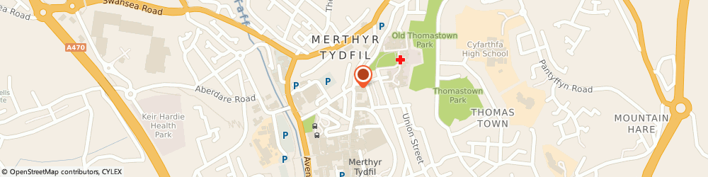 Route/map/directions to Hollies Health Centre, CF48 1UA Merthyr Tydfil, 1 The Hollies