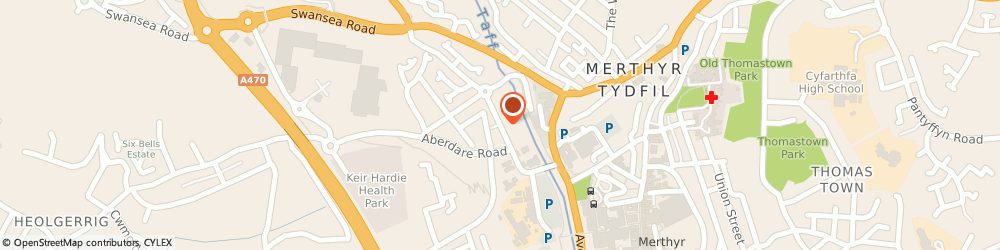Route/map/directions to Pontcae Surgery, CF48 1YE Merthyr Tydfil, DYNEVOR STREET
