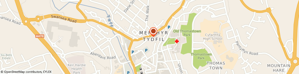 Route/map/directions to Merthyr Chiropractic Clinic, CF47 8UU Merthyr Tydfil, 4 Pontmorlais W