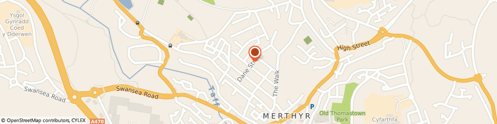 Route/map/directions to Army Cadet Force, CF47 8LF Merthyr Tydfil, DRILL HALL, BETHESDA STREET, GEORGETOWN