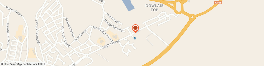 Route/map/directions to UPS Solutions Logistics, CF48 3HB Merthyr Tydfil, 17-19 High Street
