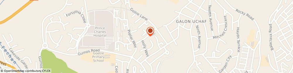 Route/map/directions to Pearns Pharmacy Chestnut Way, CF47 9SB Merthyr Tydfil, 5 Chestnut Way