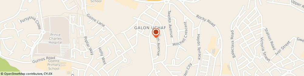 Route/map/directions to The Trading Post, Best-one, CF47 9TP Tydfil, Galon Uchaf Road